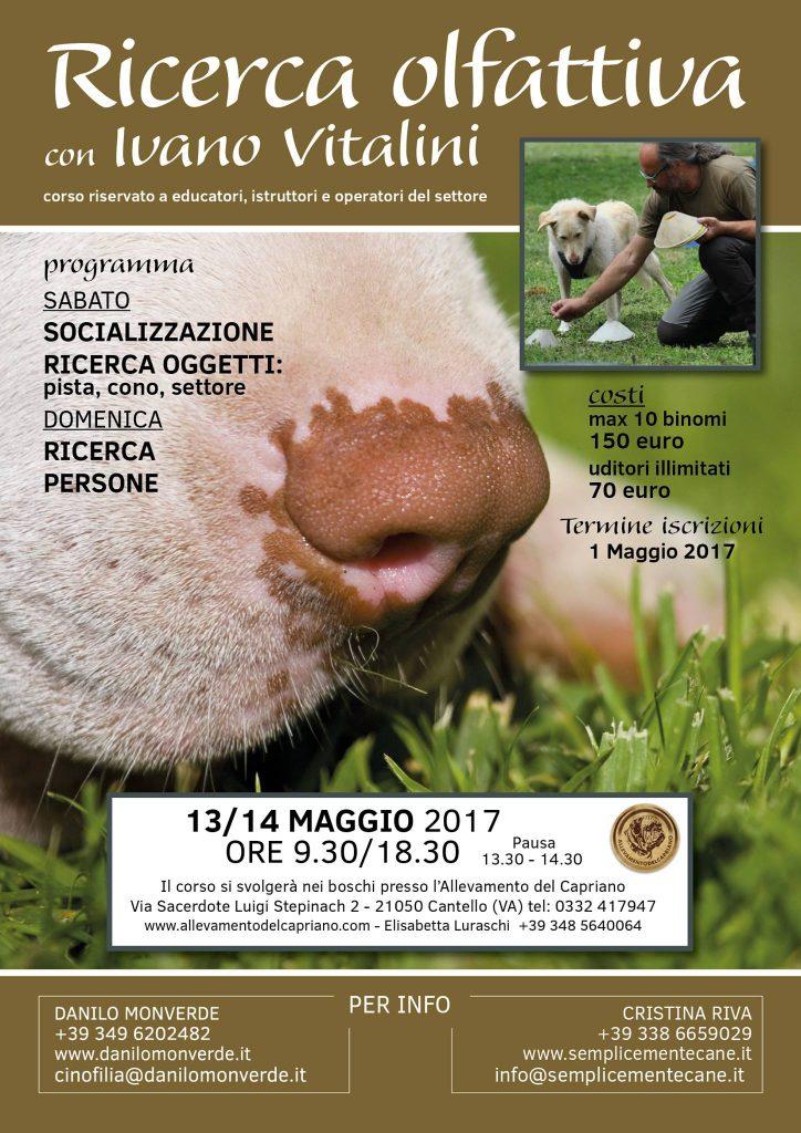Cantello Varese 13 e 11 Maggio - Ricerca Olfattiva con Ivano Vitalini
