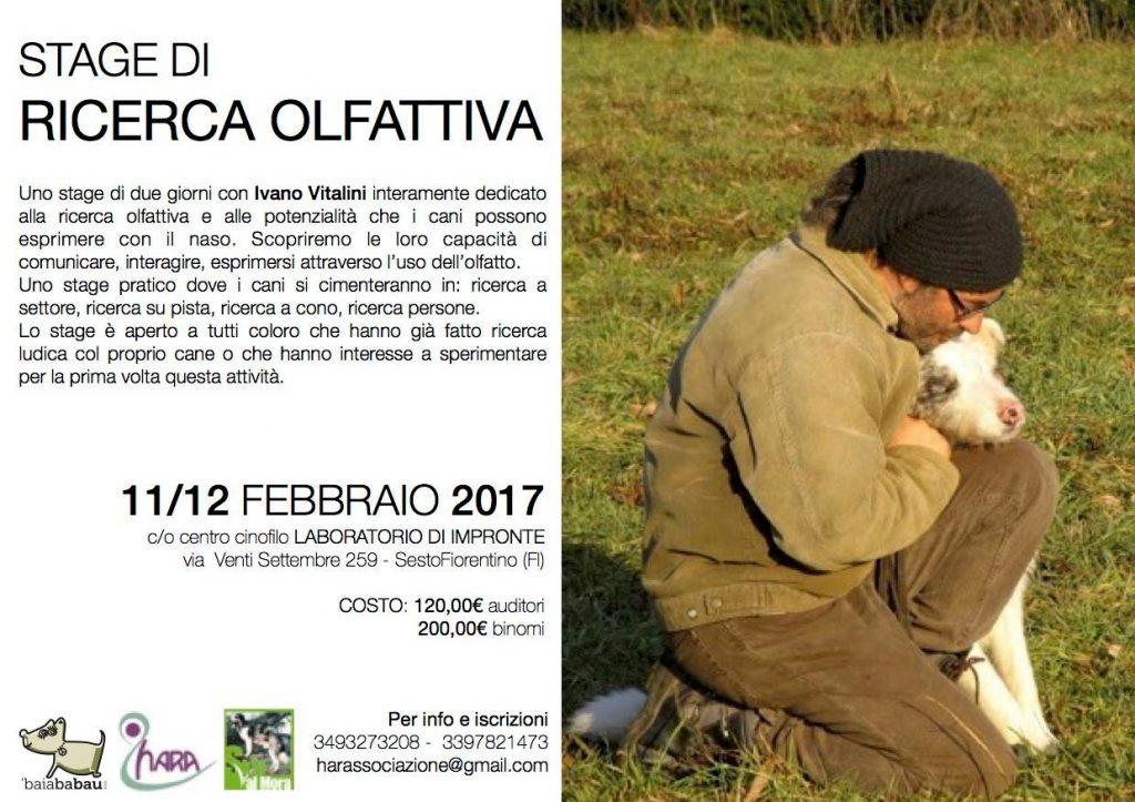 Sesto Fiorentino 11 e 12 Febbraio - Ricerca Olfattiva con Ivano Vitalini