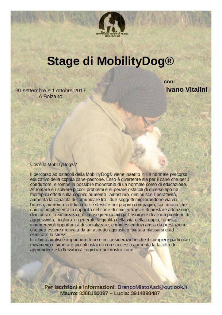 Bolzano 30 settembre e 1 ottobre 2017 - Mobility dog con Ivano Vitalini