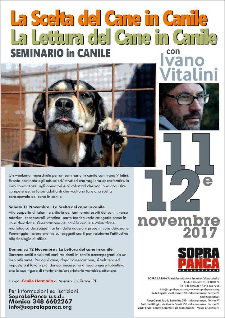 Montecatini Terme (PT) 11 e 12 Novembre 2017 - Seminario in Canile con Ivano Vitalini