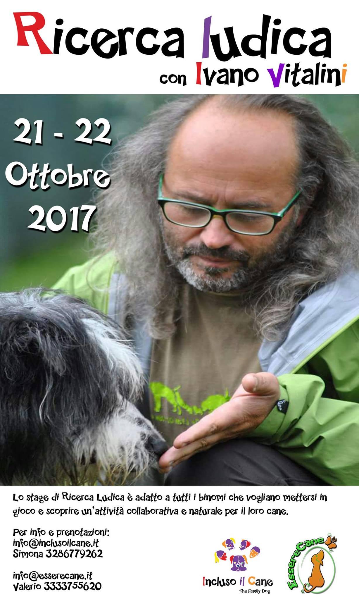 Roma 21 e 22 Ottobre 2017 - Stage di Ricerca ludica con Ivano Vitalini