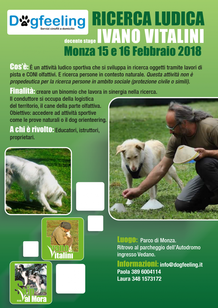 Monza 15 e 16 Febbraio 2018 - Stage di Ricerca ludica con Ivano Vitalini
