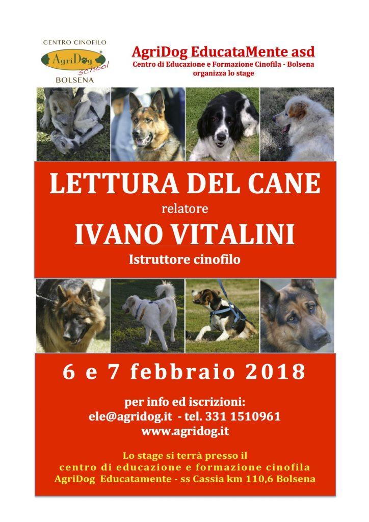 Bolsena (VT) 6 e 7 Febbraio 2018 - Lettura del cane con Ivano Vitalini