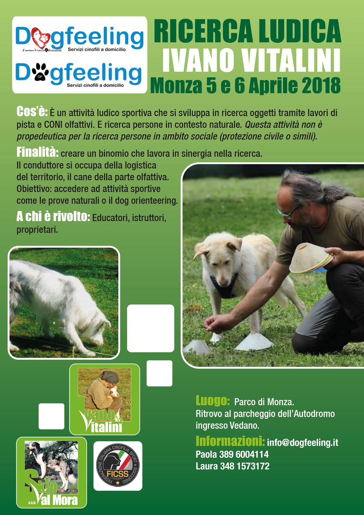 Monza 5 e 6 Aprile 2018 – Stage di Ricerca ludica con Ivano Vitalini