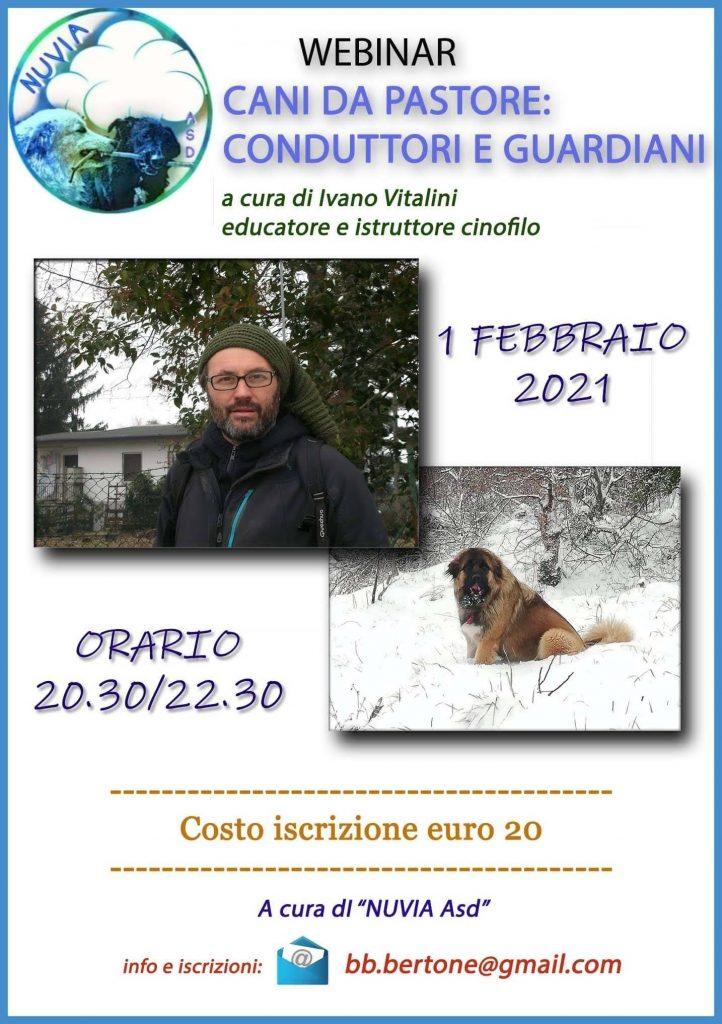 Webinar 1 Febbraio 2020 - Cani da Pastore: conduttori e guardiani Ivano Vitalini