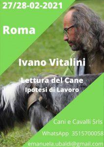 ROMA 27 e 28 Febbraio2021- Lettura del cane e ipotesi di lavoro con Ivano Vitalini