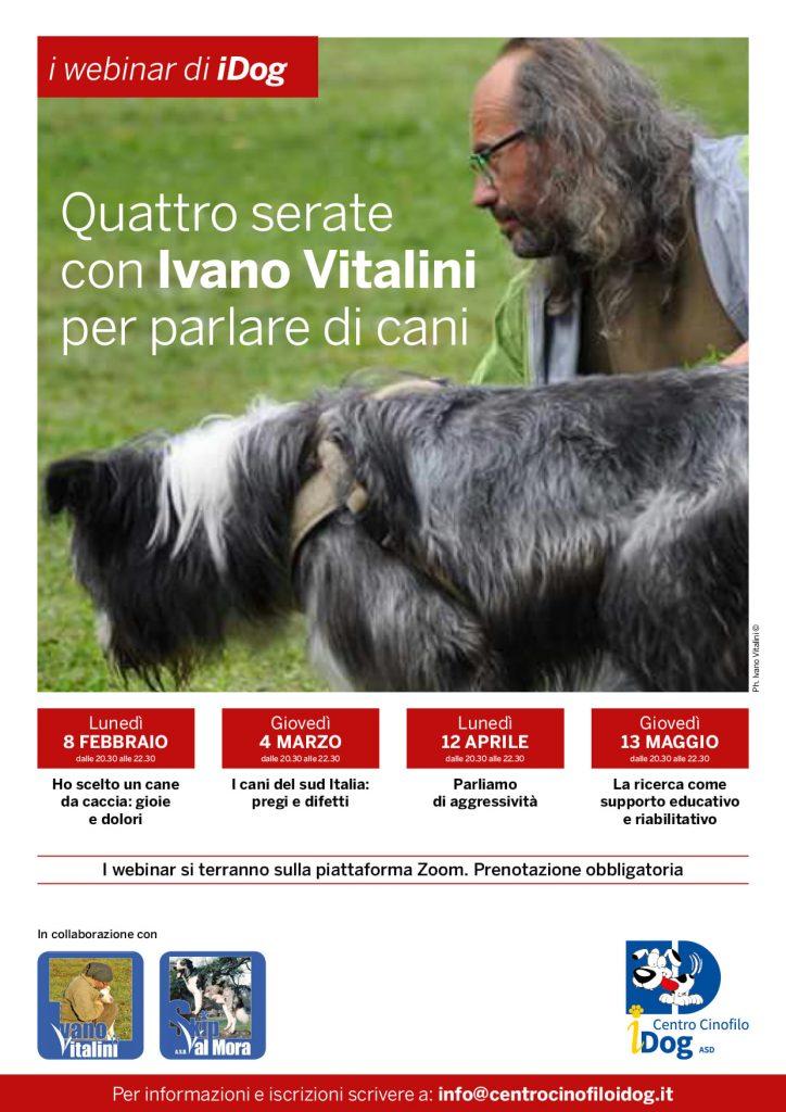 Webinar 8/2, 4/3, 12/4 e 13/5 2021 -Quattro serate con Ivano Vitalini