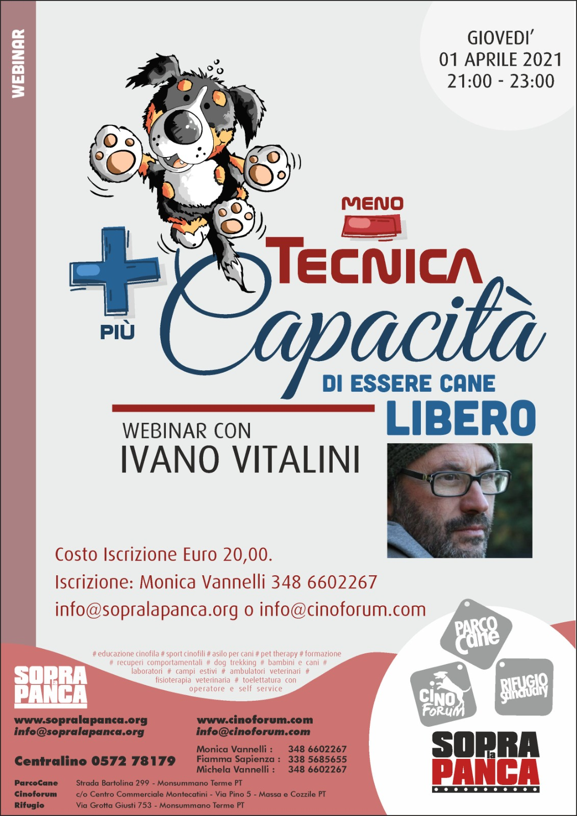 Webinar 1 Aprile 2021 - Meno tecnica più capacità di essere cane con Ivano Vitalini