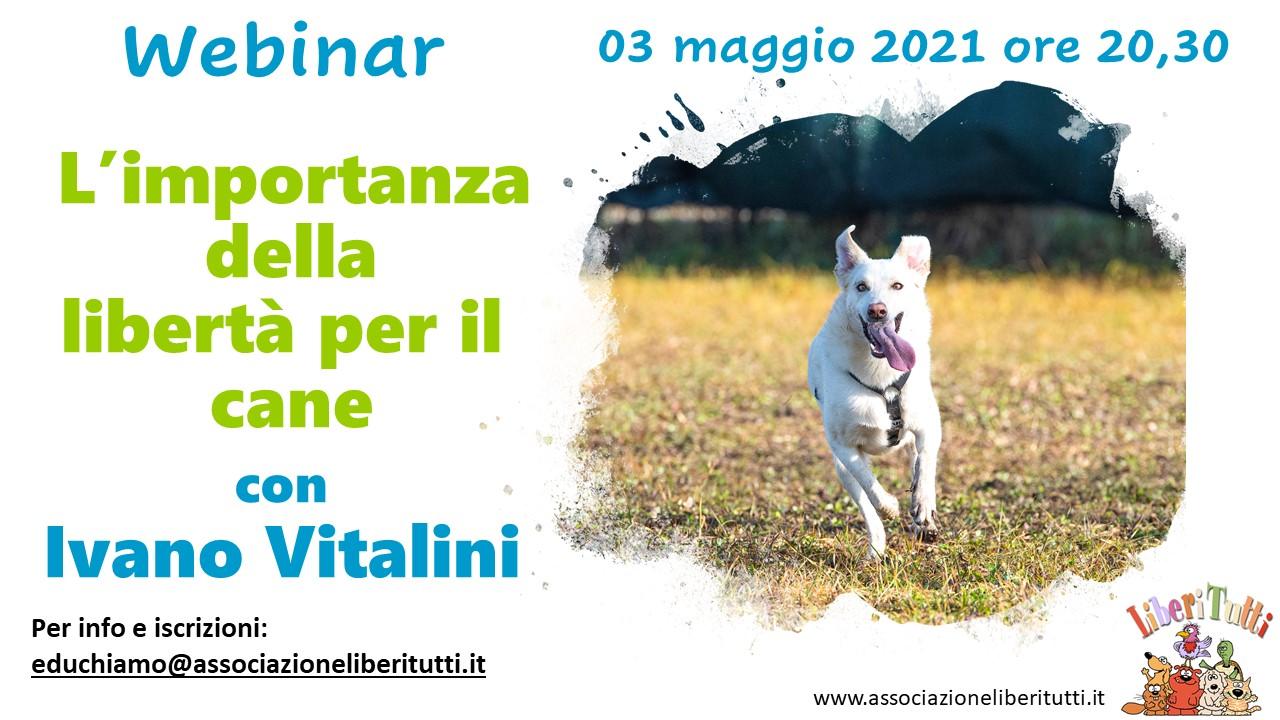 Webinar 3 Maggio 2021 - L'importanza della libertà per il cane