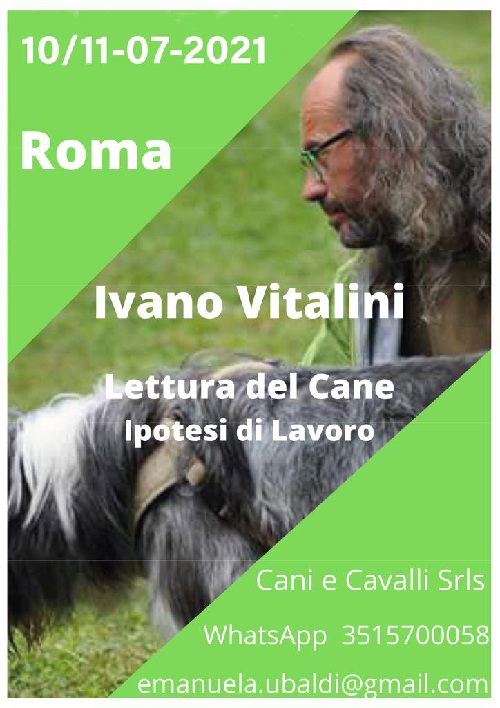 ROMA 10 e 11 Luglio 2021 - Lettura del cane e ipotesi di lavoro con Ivano Vitalini