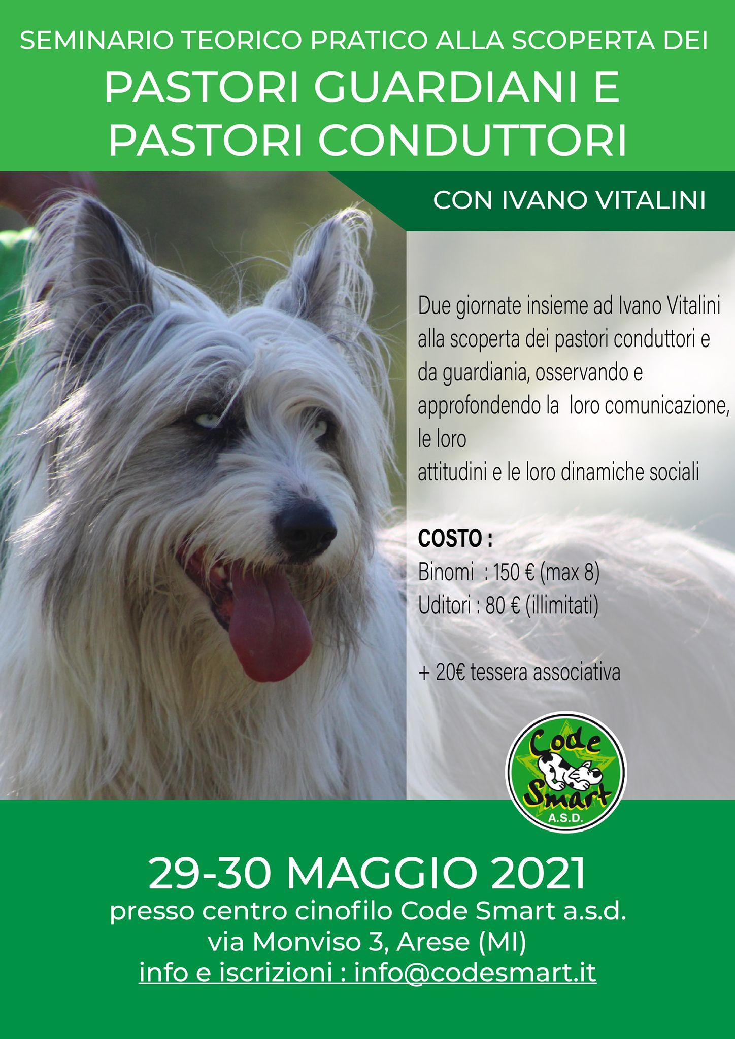 ARESE (Milano) 29-30 Maggio 2021 - Pastori Guardiani e Pastori Conduttori con Ivano Vitalini