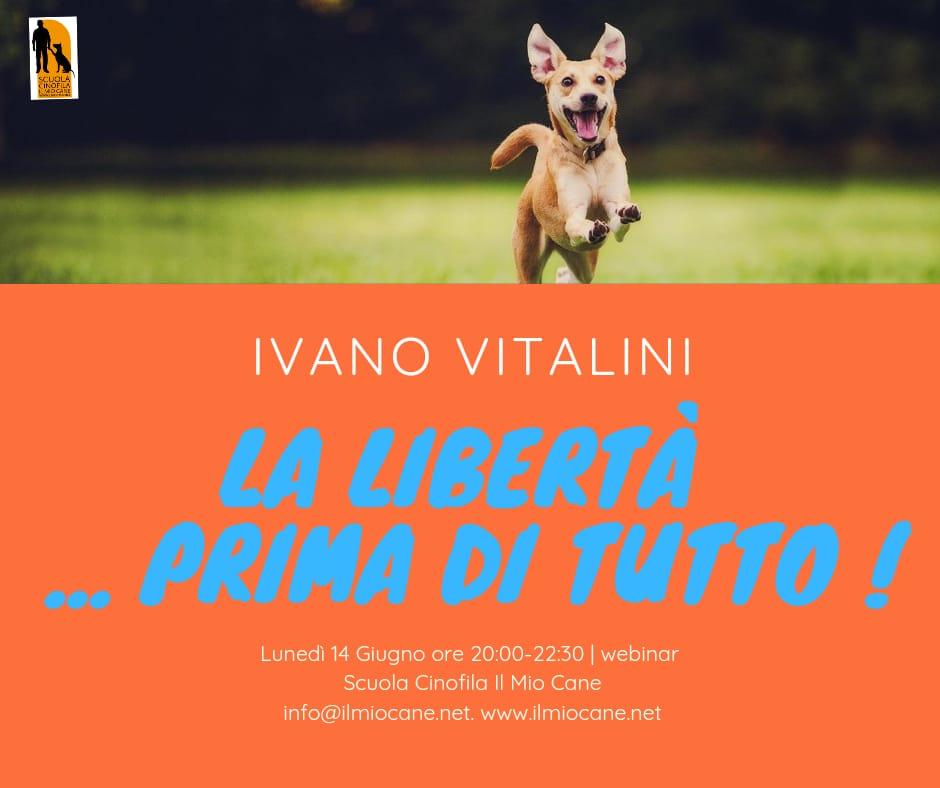 Webinar 14 giugno 2021 - La libertà prima di tutto con Ivano Vitalini