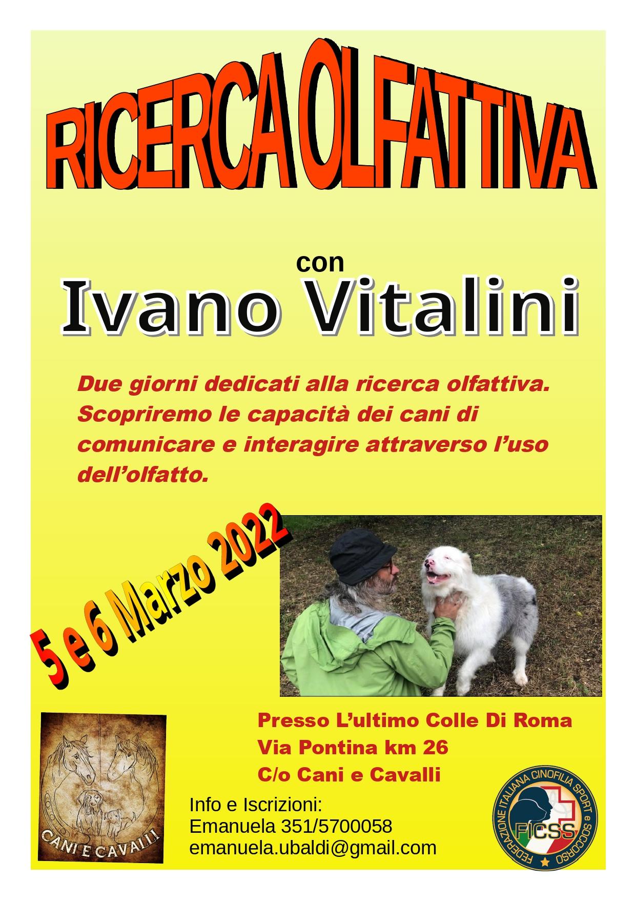 5 e 6 Marzo 2022 - Ricerca olfattiva ludica con Ivano Vitalini