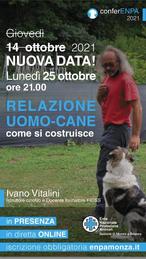 Monza 25 ottobre 2021 - La relazione uomo-cane con Ivano Vitalini
